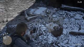 Red Dead Redemption 2 - Giant Humanoid Skeleton Remains