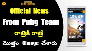Battlegrounds Mobile India Officially Confirmed by Pubg Team || Official YouTube Name Changed