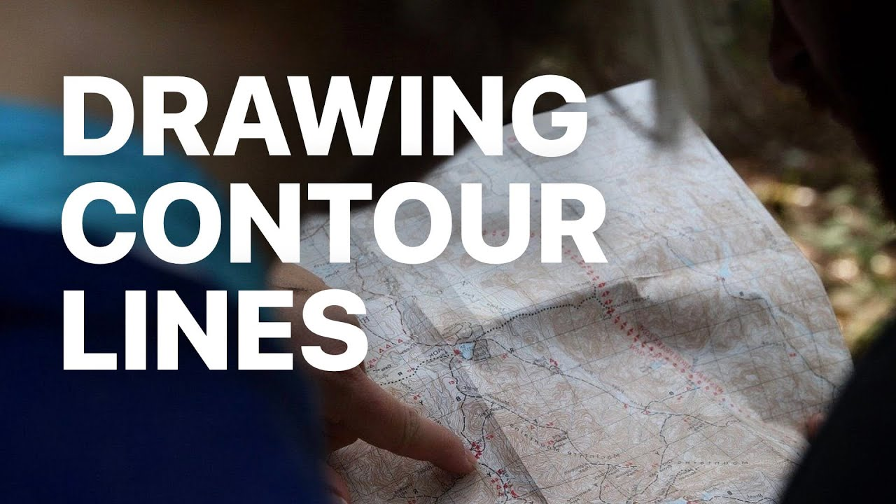 medium resolution of Drawing Contour Lines on a Topographic Map - YouTube