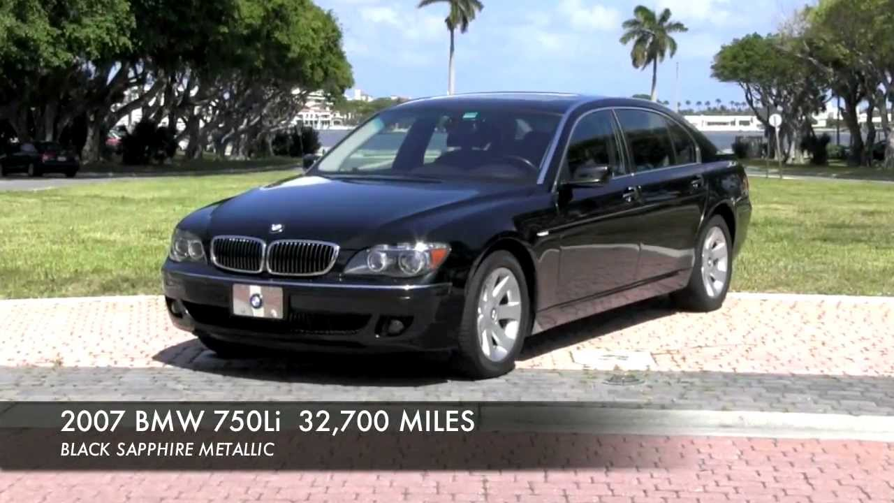 2007 BMW 750Li Black Sapphire Metallic Certified Pre Owned A2805