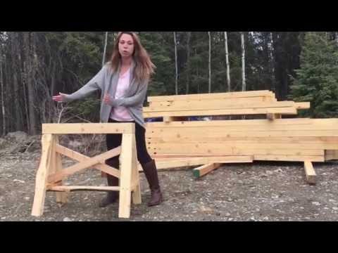 Heavy Duty Sawhorses Easy to Make from 2x4s