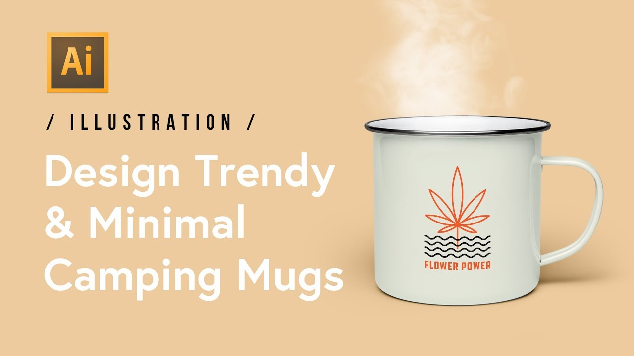 In Design A Minimal Illustrator420 Friendly Camping Mug Trendyamp; srdhQt