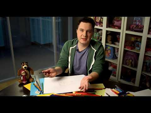 Рисуем вместе с аниматором мультфильма «Маша и Медведь»