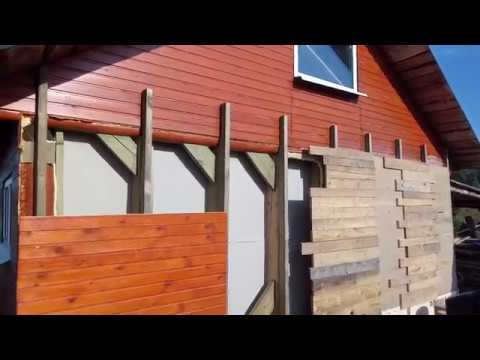 Утепление стен опилками с гипсом