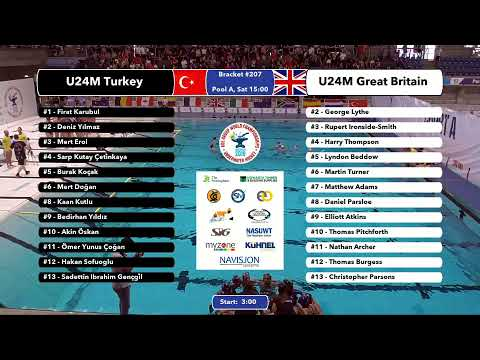 Game 205 (NZL vs FRA U24W) FRENCH - 5th CMAS Underwater Hockey Age Group Worlds - Sheffield, UK