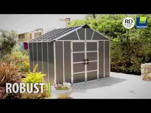 OOGarden - Abri résine OPTIMUM 8.9 m² PALRAM - YouTube