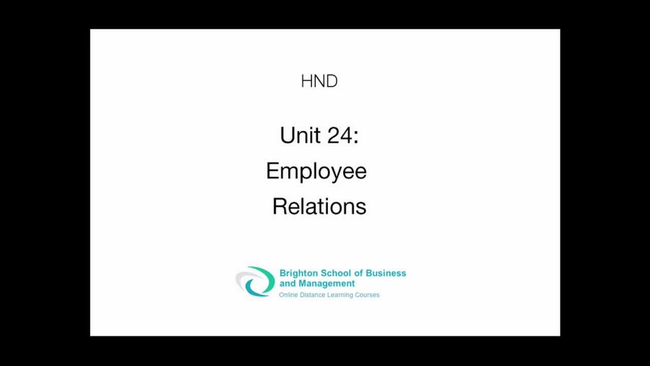 unit 24 employee relations Here are 5 employee relations challenges confronting healthcare now  care  unit interns who worked an extended 24-hour schedule every.