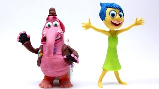 Play Doh Joy & Bing Bong Stop Motion Inside Out! Disney Pixar Playdough Animación de Inside Out