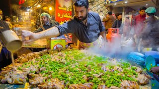 Pakistani Street Food - LAHORE'S #1 TAWA CHICKEN + Biryani Factory!! CRAZY Street Food in Pakistan