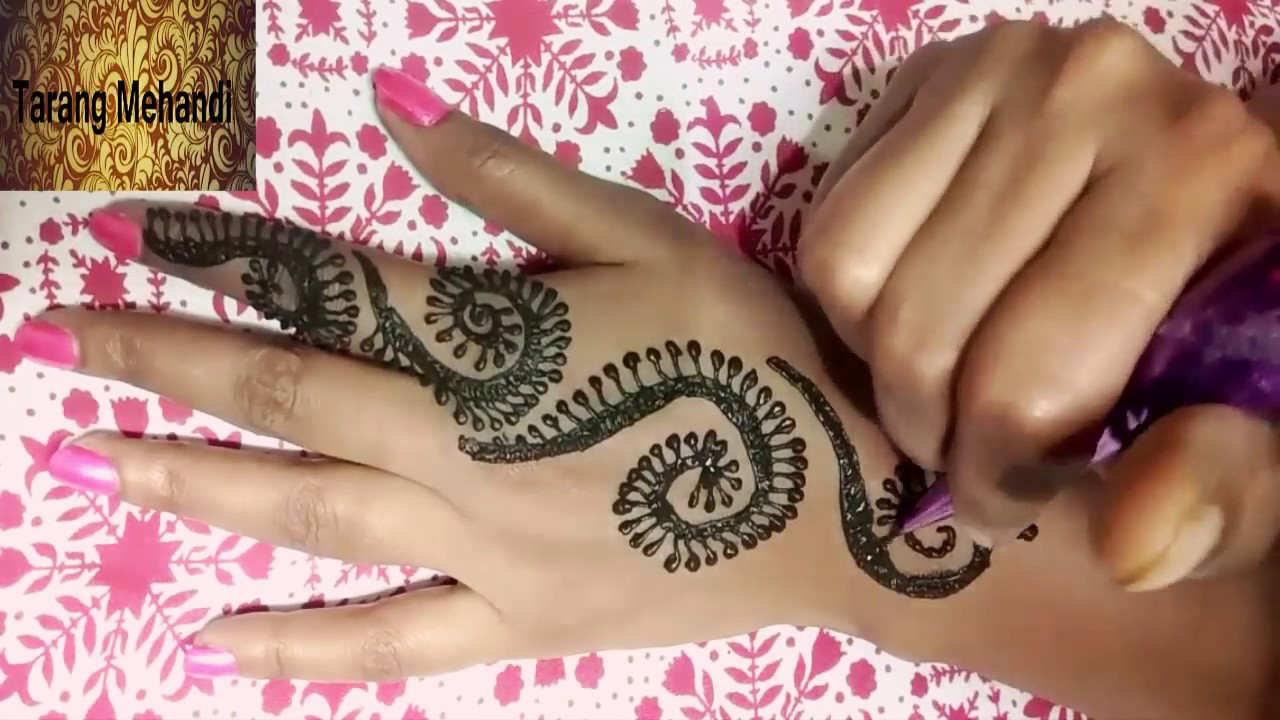 mehndi design bel simple