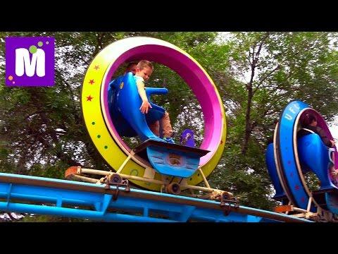 видео: Катаемся на НЛО парк развлечений Лабиринт из веревок Покупаем китайские сувениры Пекин Китай