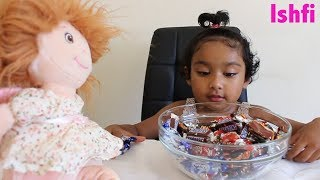 Happy Toddler Ishfi Loves Candy Chocolate | Daddy Daughter Time