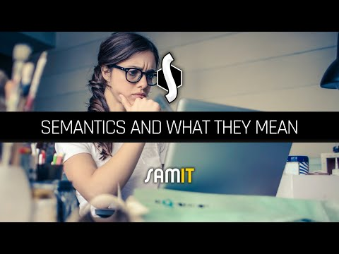 Semantics and What They Mean