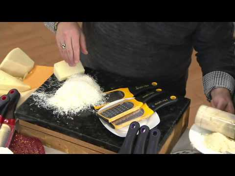 Microplane 3-piece Artisan Fine, Ribbon, & Extra Coarse Graters/Zesters on QVC