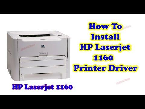 How To Install Hp Laserjet 1160 Printer Driver For Windows 7 64 Bit