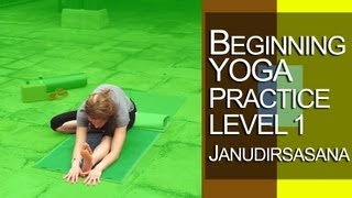 Yoga - Beginners Yoga Practice Lesson level 1 Janudirsasana