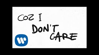 Ed Sheeran \u0026 Justin Bieber - I Don't Care [Official Lyric Video]