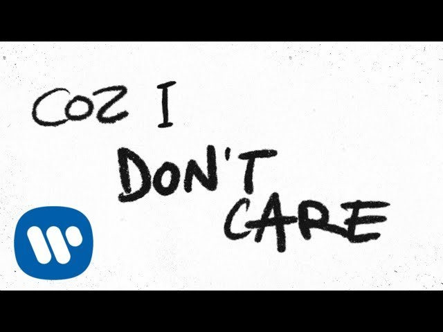 Ed Sheeran & Justin Bieber - I Don't Care [Official Lyric Video] #1
