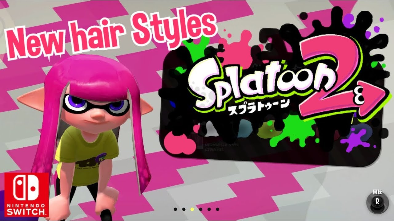 Nintendo Splatoon 2 New Hair Styles Outfits Version 20 Switch Youtube