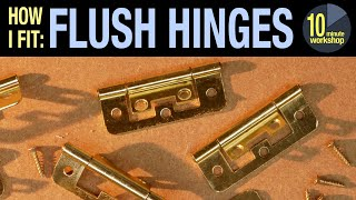 Fitting flush hinges for cabinets [video #314]