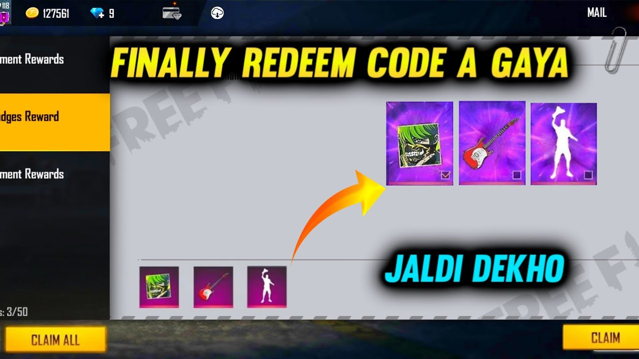 FREE FIRE NEW REDEEM CODE | EID EVENT REDEEM CODE | 2021 | FREE FIRE NEW EVENT FULL DETAILS