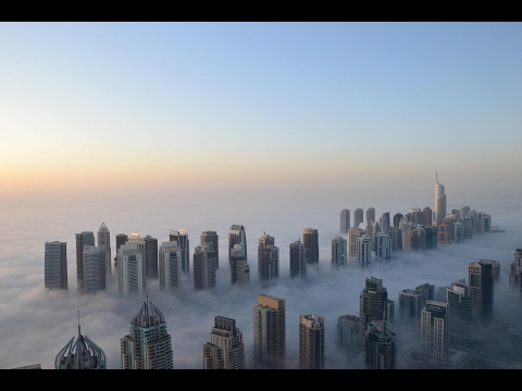 Dubai Windy day February 3rd from the Tallest Residential Bu