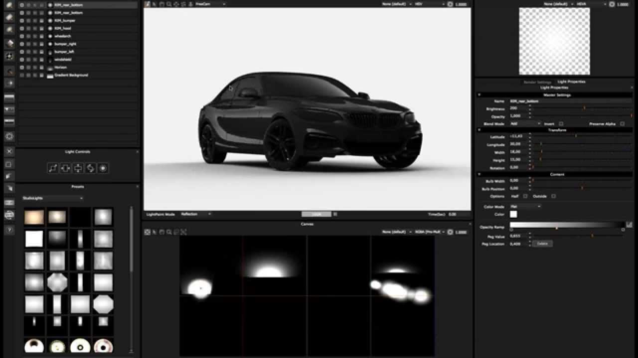 Automotive CGI Studio Lighting with HDR LIGHT STUDIO 5