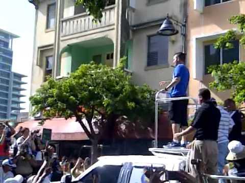 Recibimiento a JJ Barea Orguyo de Puerto Rico