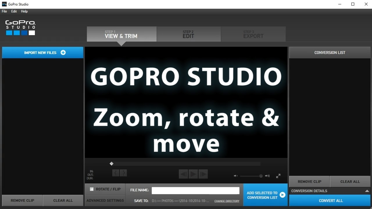 GoPro Studio Tutorial: How to Zoom, Move or Rotate a Video – Filming