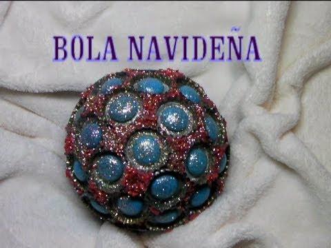 Diy esfera de navidad con chapas de refresco youtube - Esferas de navidad ...