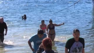 Swimming in the Arctic ocean: Cambridge Bay