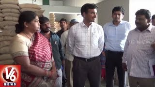 Civil Supplies Commissioner CV Anand Sacks 2 Rice Millers For Recycling PDS Rice | V6 News