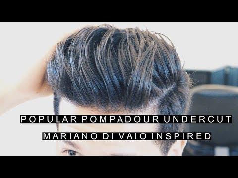 Popular Pompadour Undercut Haircut   Mariano Di Vaio Inspired Hairstyle   Cool Hair For Men