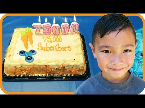 Thumbnail: FIDGET SPINNER 75,000 Subscribers Cake, Trampoline Park Celebration with TigerBox HD
