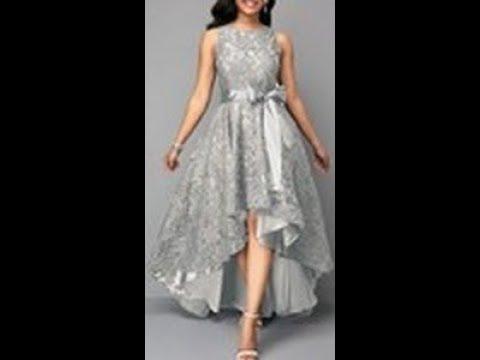 f740023dd خياطة فستان سواريه بالدانتيل قصير من الأمام و طويل من الخلف -هوايتي - الجزء  الثاني