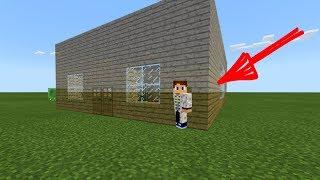 КАК ПОСТРОИТЬ ПРОЗРАЧНЫЙ ДОМ в Minecraft PE 1.2.8