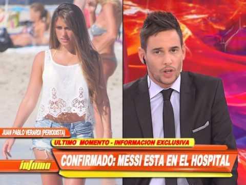 Antonella Roccuzzo, la esposa de Messi, internada en Rosario