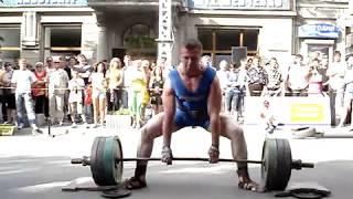 Становая тяга 250 кг на 20 раз Симферополь июнь 2010 стронг