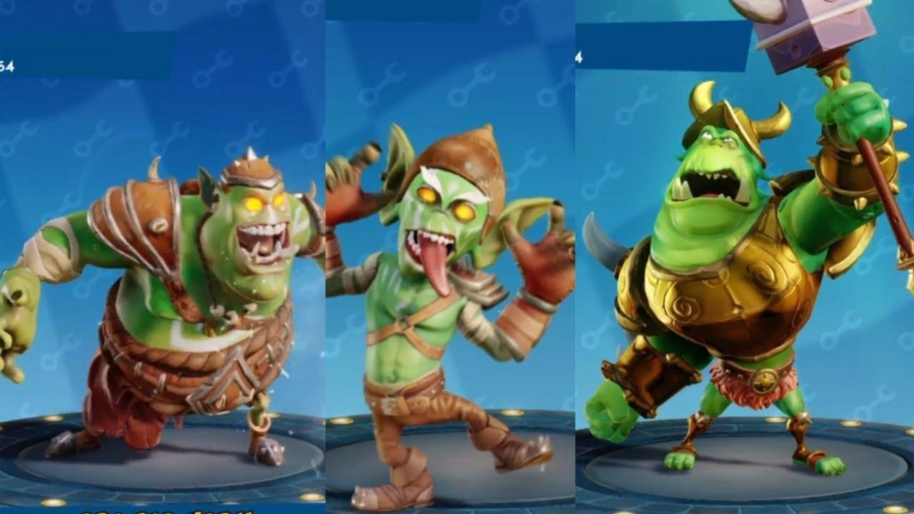 Orc Skins Crash Team Racing Nitro-Fueled (Gnasty Norc,Orc Big Norm,Goblin  Small Norm)