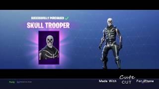 Buying Skull Trooper In Fortnite (and Scythe Pick axe)