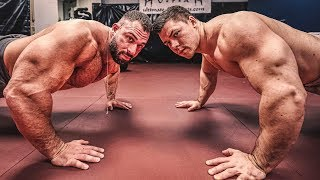 Bodybuilder vs Strongman vs MMA Fighter! Krasseste Liegestütze Challenge!
