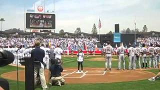 Charice(16 years old)  - US National Anthem-Star Spangled Banner (Dodgers vs. Giants)