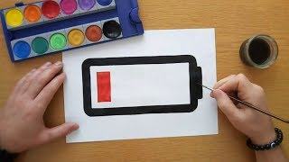 How to draw a low battery icon