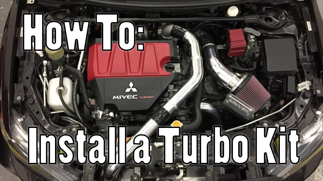 hight resolution of how to install a turbo kit