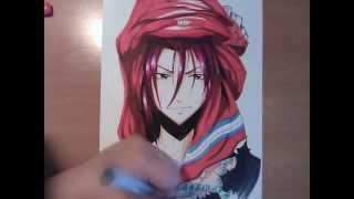 Copic Manga drawing: Free! Rin