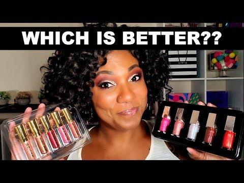 NEW!!!  FENTY GLOSSY POSSE MINI Gloss Bomb Set vs. BUXOM Lip Plumping Gloss thumbnail