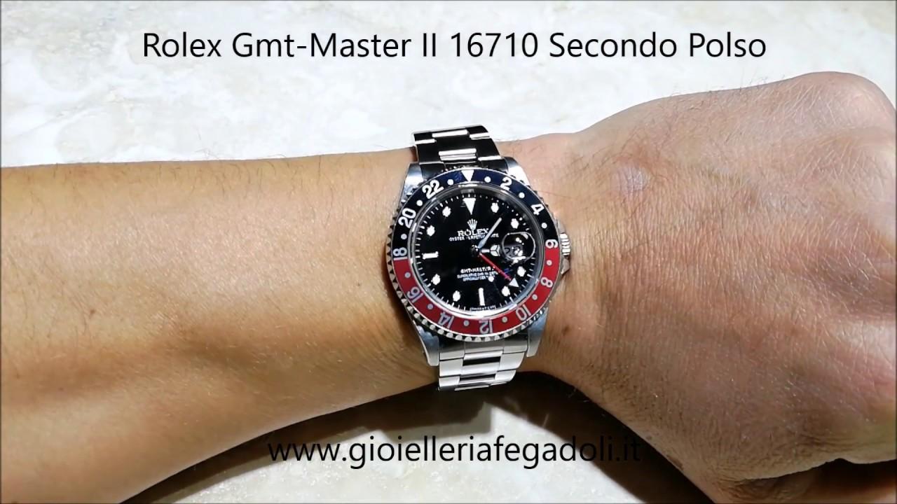 a basso costo 7a014 1e34f Rolex GMT-MASTER II 16710 Secondo Polso