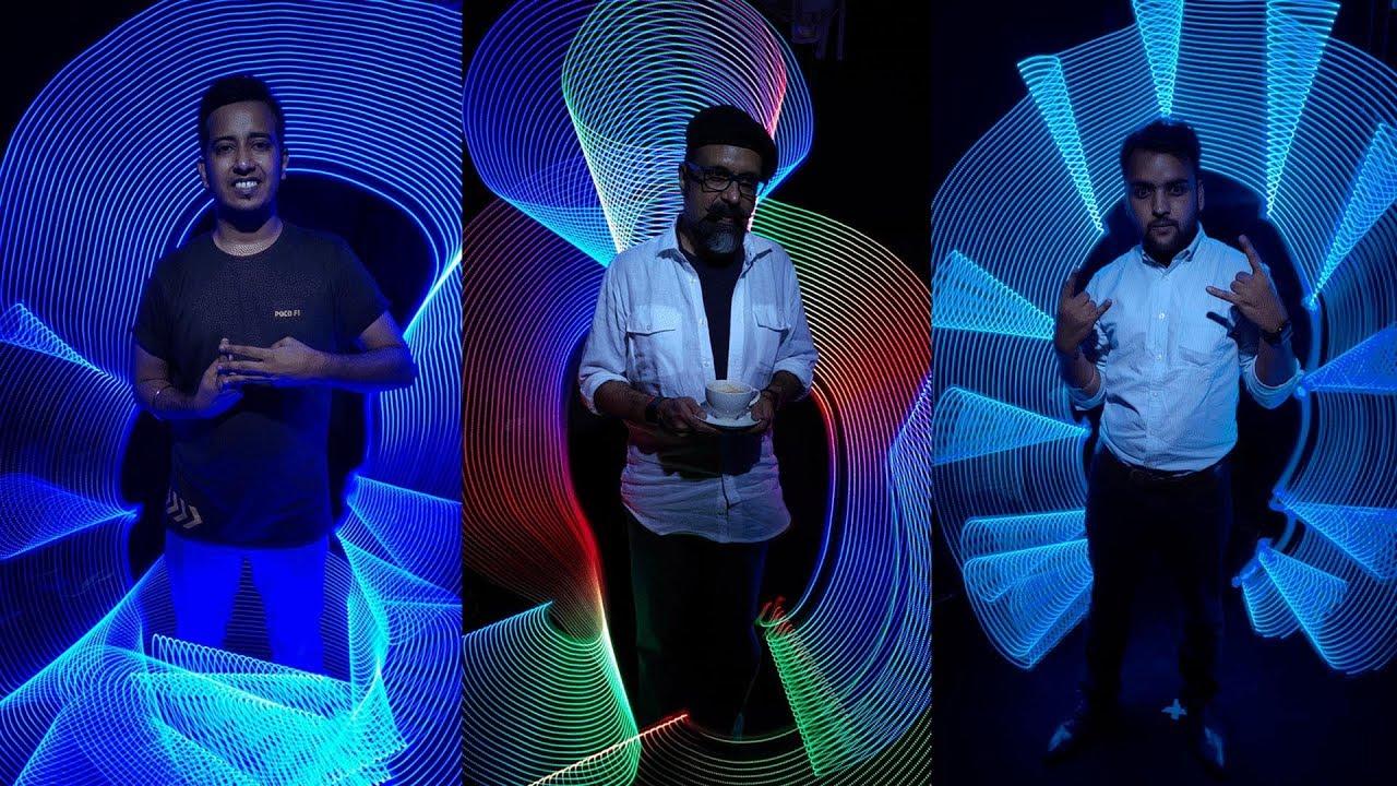 360 Light Painting Photobooth - Poco F1 Launch - YouTube