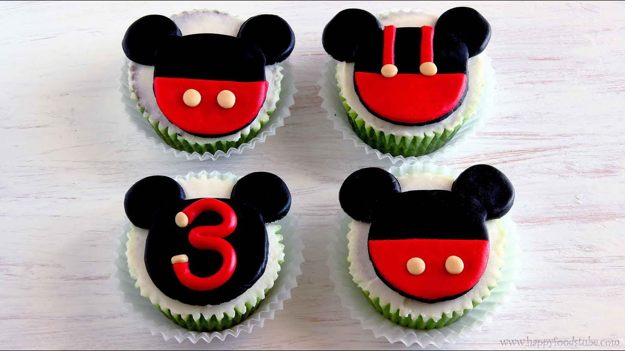 Mickey Mouse Cupcake And Cake Toppers Happyfoods Youtube