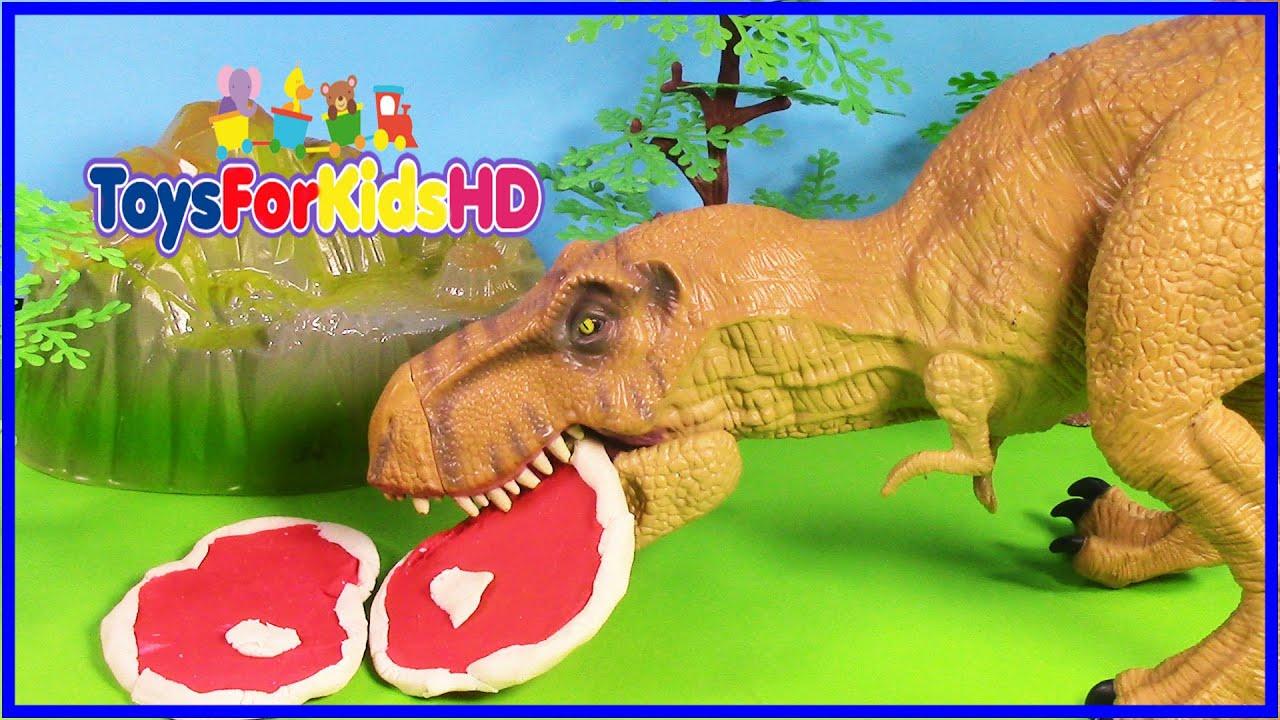 Videos de dinosaurios tyrannosaurus rex juguetes de - Cuadros decorativos infantiles para ninos ...